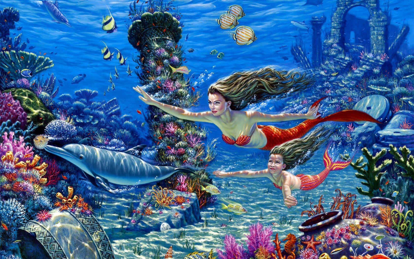 49+ 3D Mermaid Wallpaper on WallpaperSafari