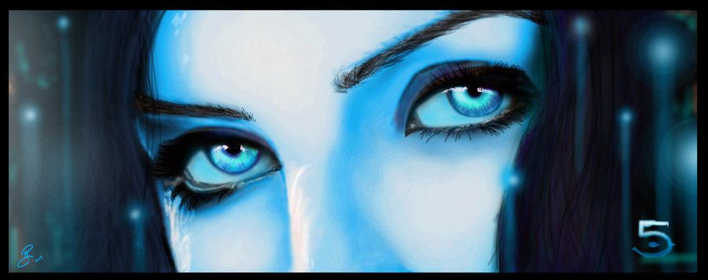 Cortana Halo 5 Concept by NightwolfArt 1024x406