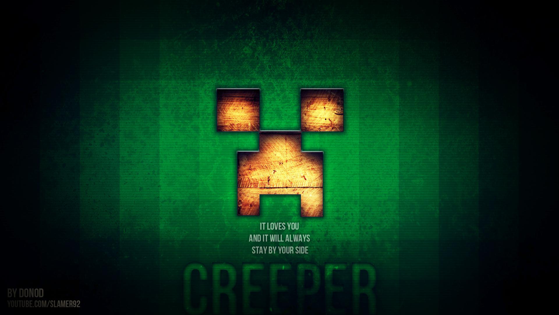Background Creeper Minecraft Face