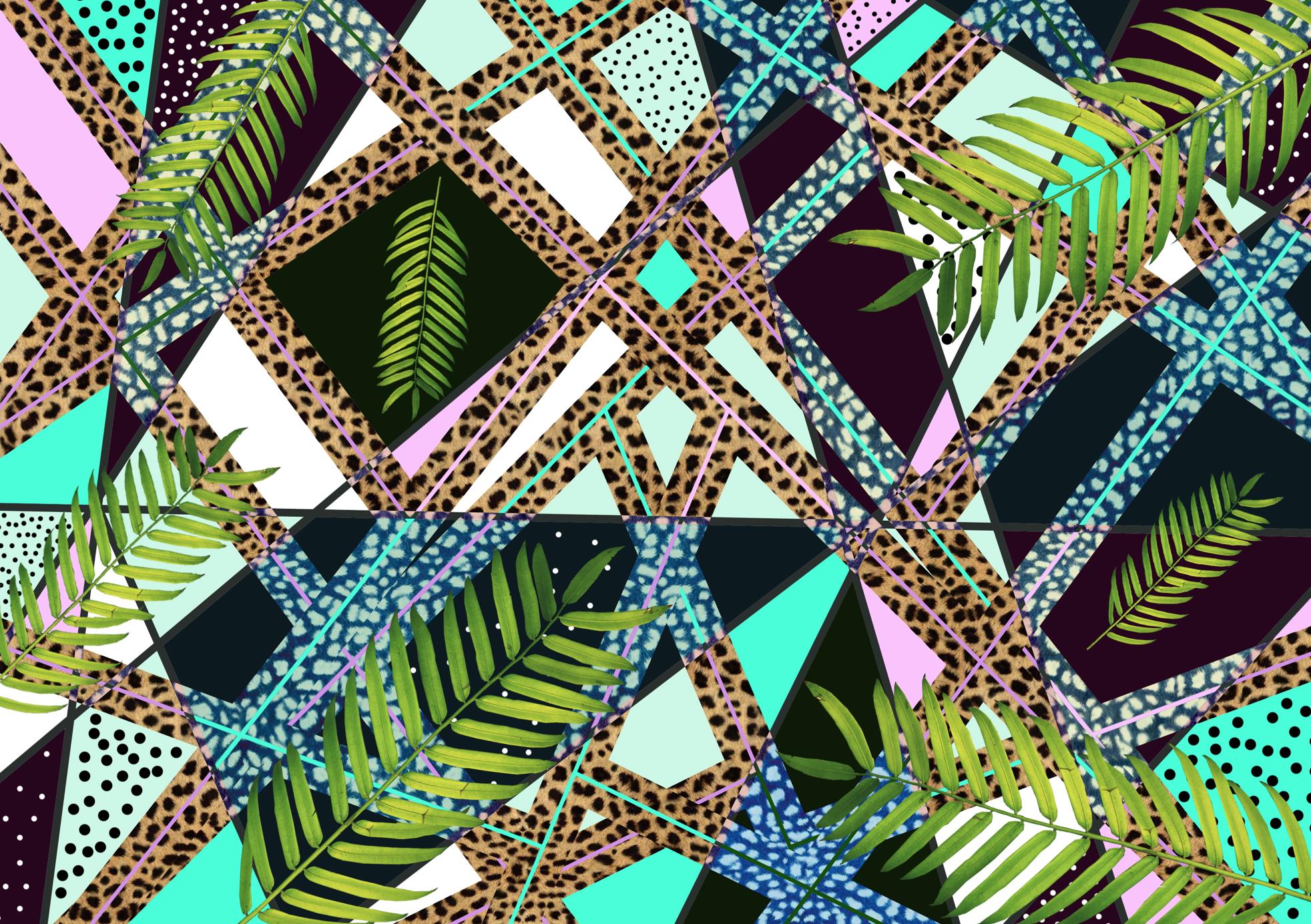 aiwaiwa society6 palm summer paradise jungle print animal print 1964x1384