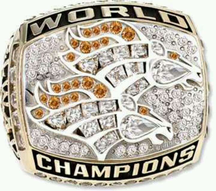 Super Bowl Ring Back to Back Champs Lets do this again Go Broncos 721x636