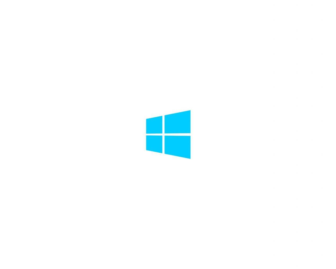 Minimalistic white metro windows 8 clean logo wallpaper 26574 1280x1024