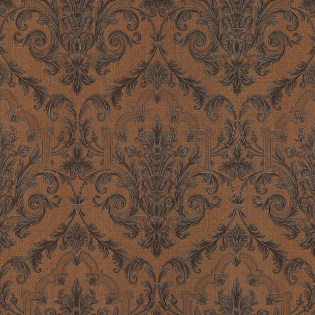 Consuela Copper Damask Wallpaper   Traditional   Wallpaper   by 640x640