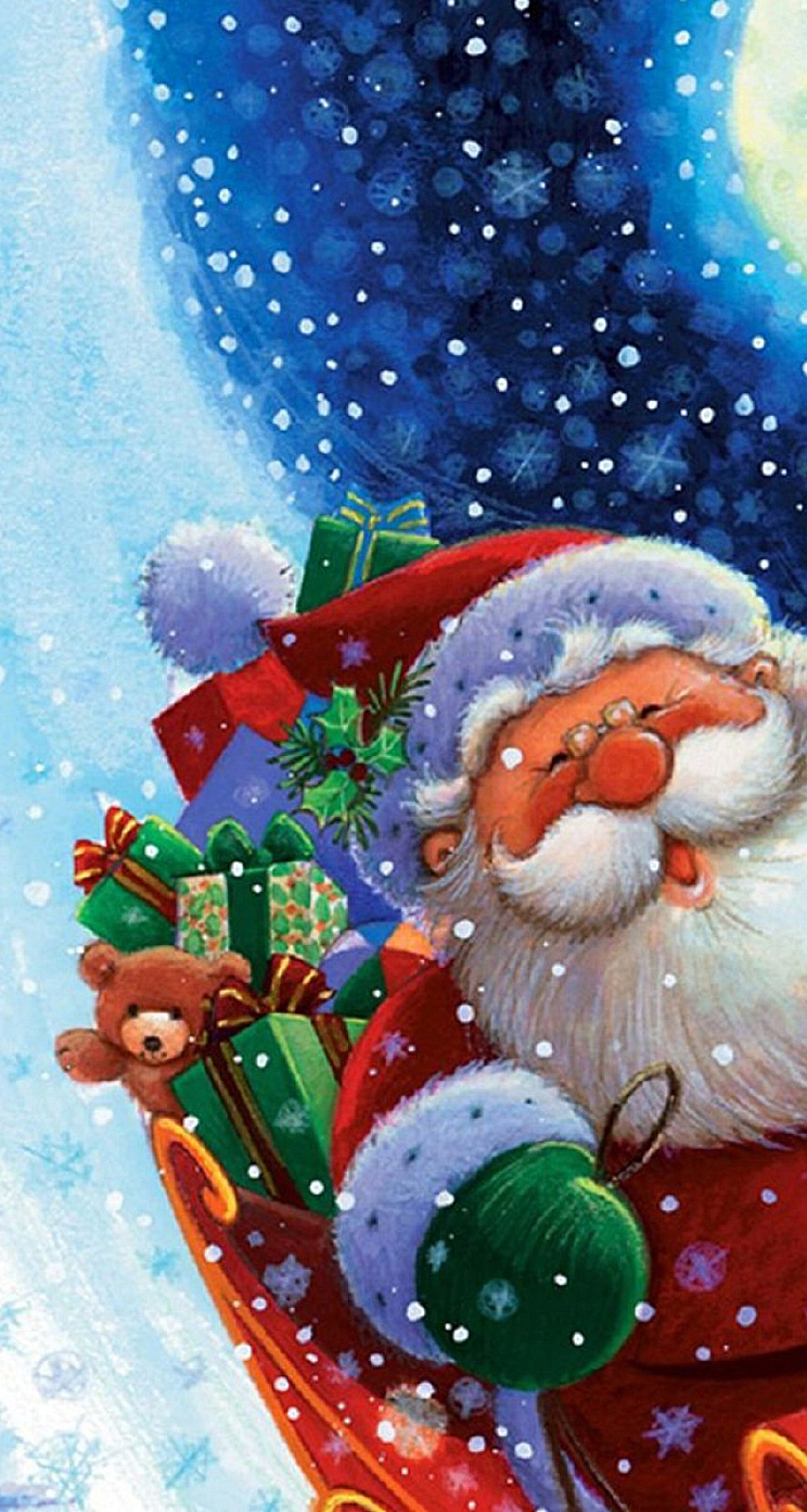 Free Animated Christmas Wallpaper For Iphone