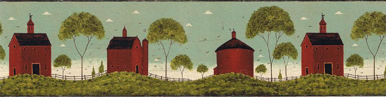 Country Barn Wallpaper Border WallpaperSafari