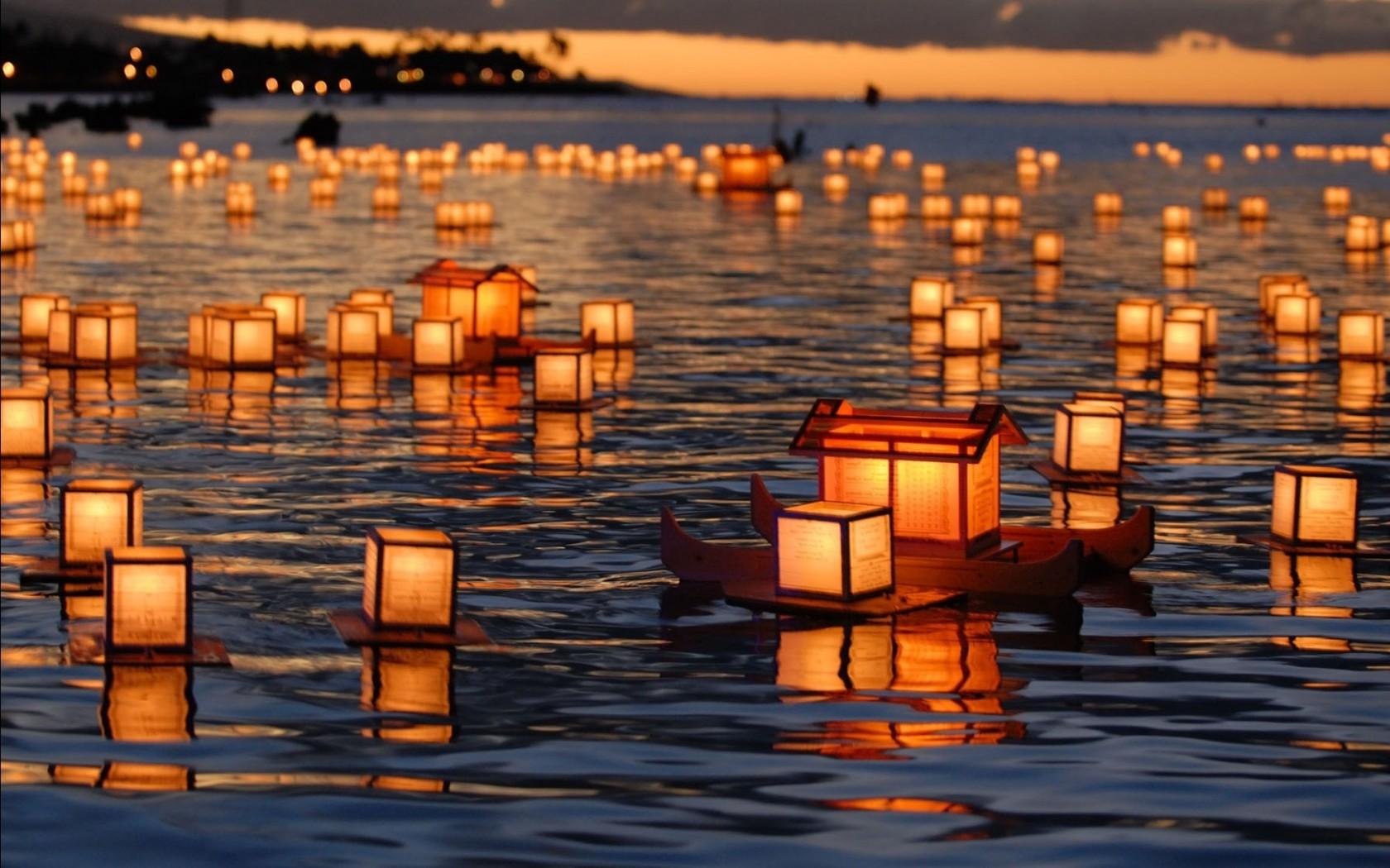Floating lanterns wallpaper 6310 1680x1050