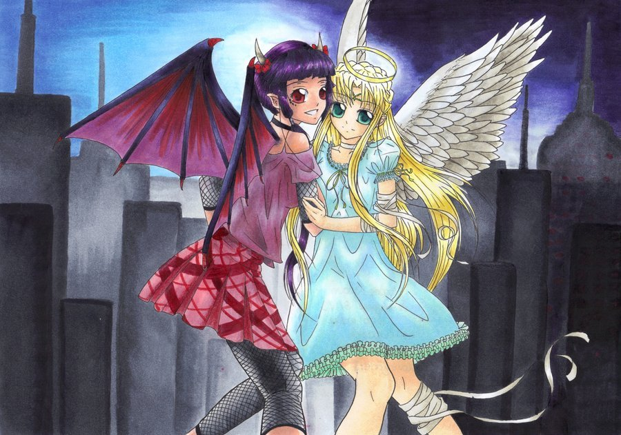 Pin Angel And Devil Wallpaper Photos 900x631