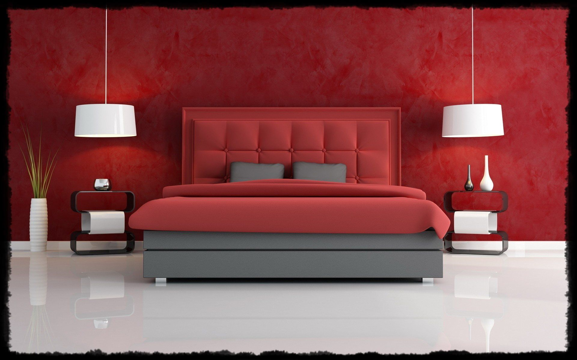 Bedroom Amazing Red Wallpaper Master Bedroom Decorating Ideas 1920x1200