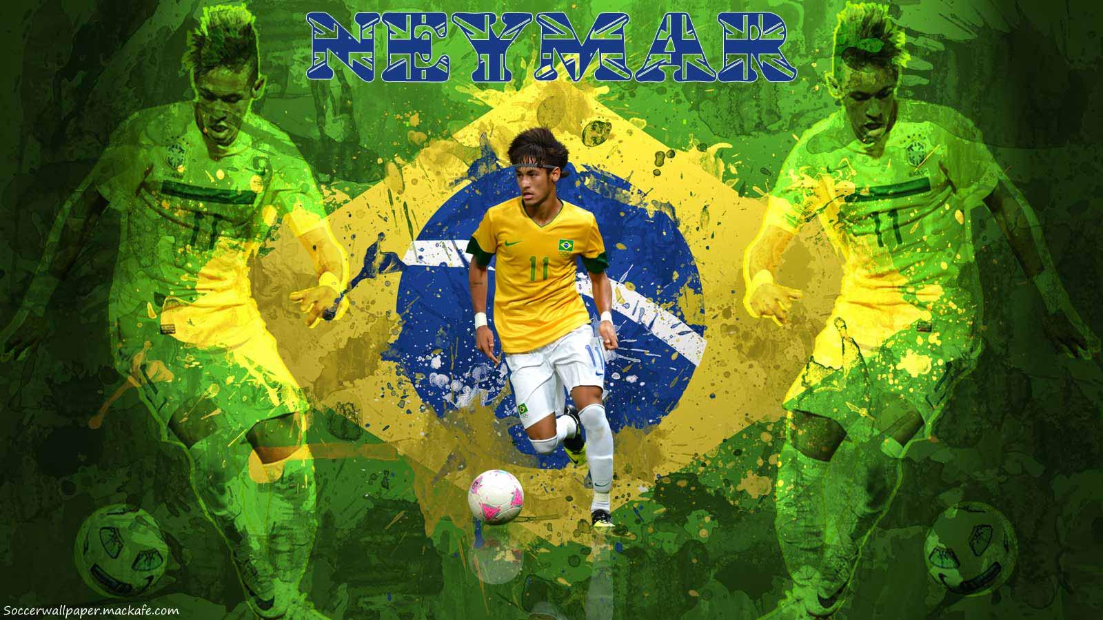 Neymar Brazil 2013 Wallpaper 1600x900