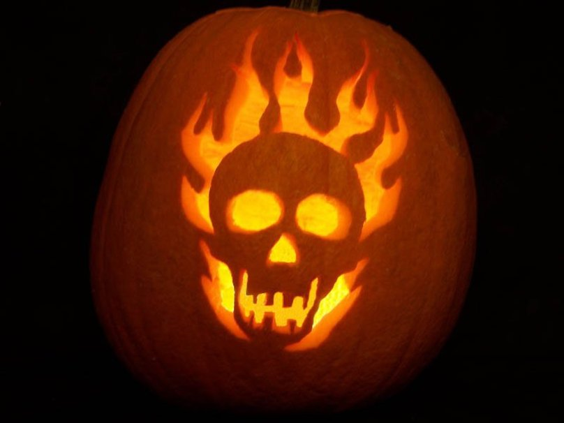 Halloween Flaming Skull Wallpaper   ForWallpapercom 808x606