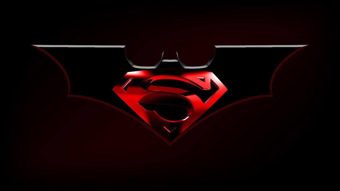 Superman And Batman Logo Wallpaper Batman 1191x670