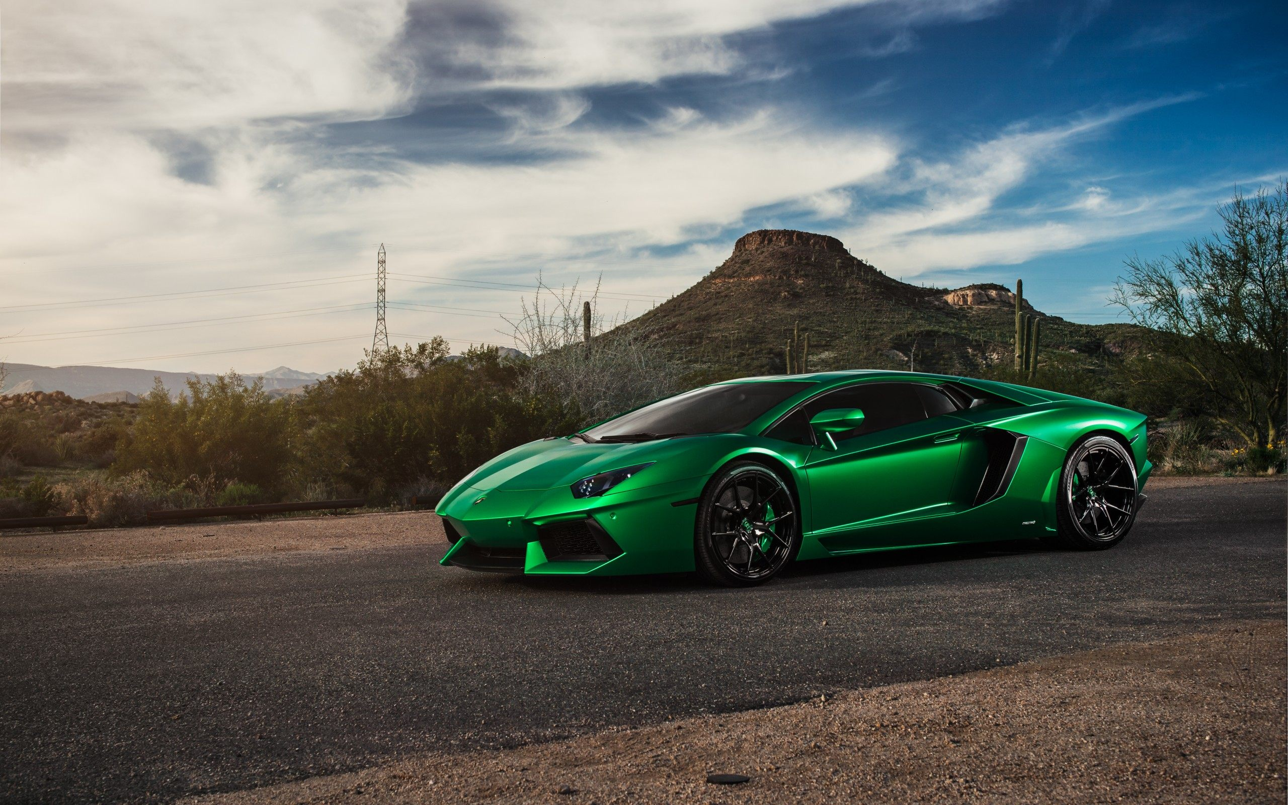 Green Lamborghini Supercar Wallpaper For Desktop amp Mobile 2560x1600