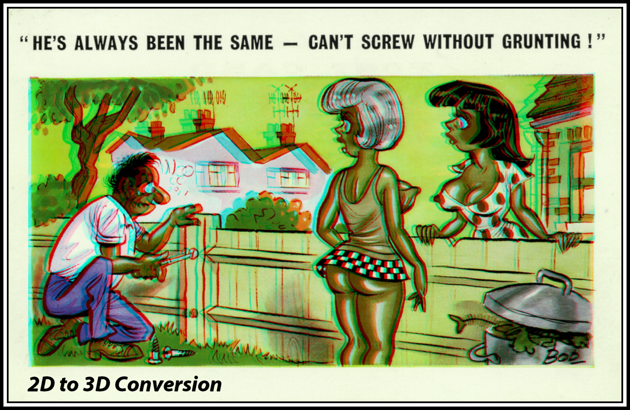 Saucy Old Postcard 2D to 3D by zippy6234 1280x834