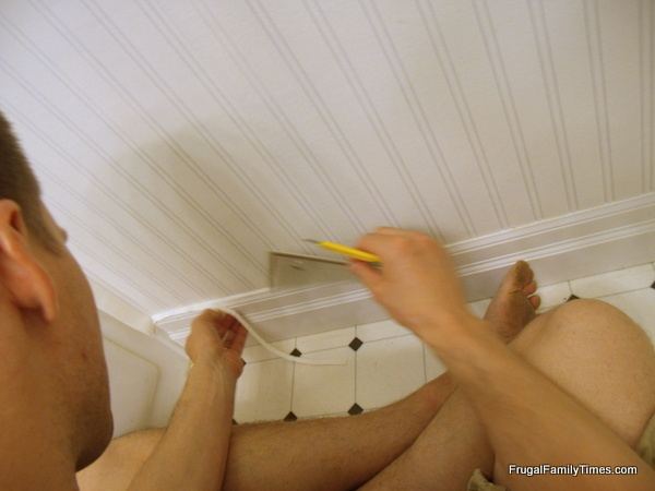 How to Install Beadboard Paintable Wallpaper Frugal Family Times 600x450