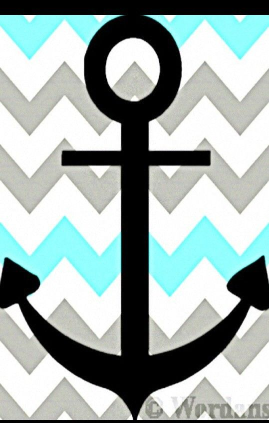 Anchor chevron sperry ChevronAnchorWallpapers Pinterest 539x846