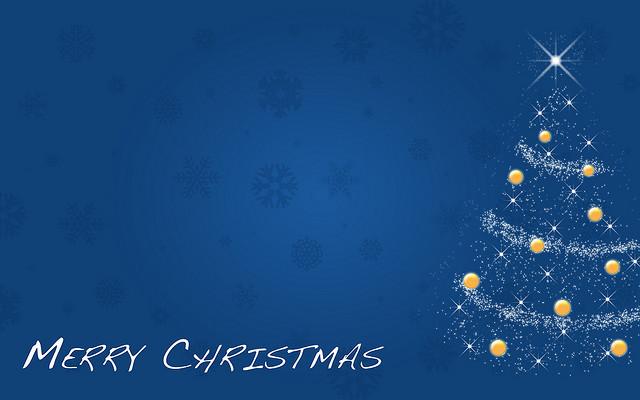 Blue Christmas Background - WallpaperSafari