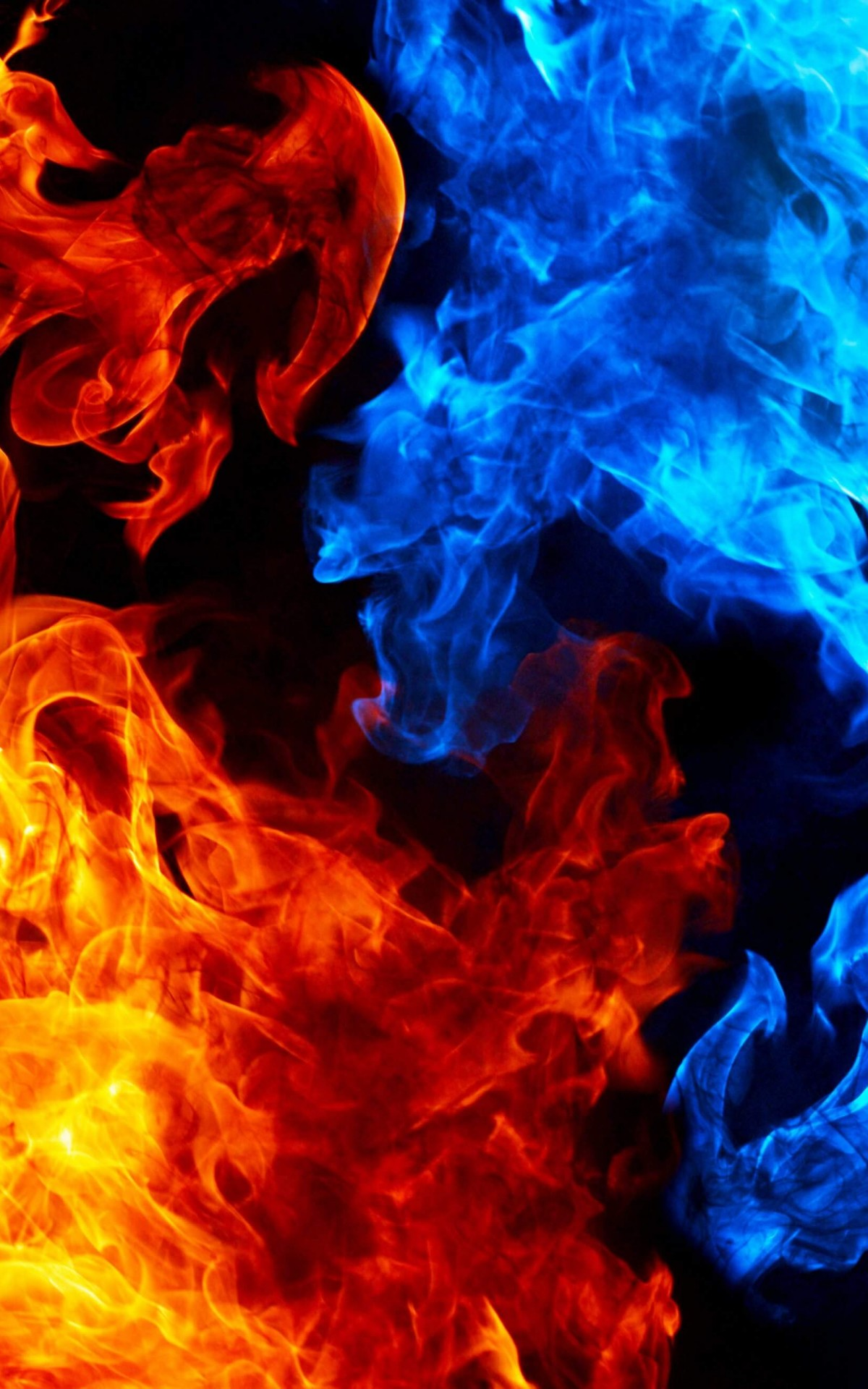 Blue And Red Fire Wallpaper for Amazon Kindle Fire HDX 1200x1920