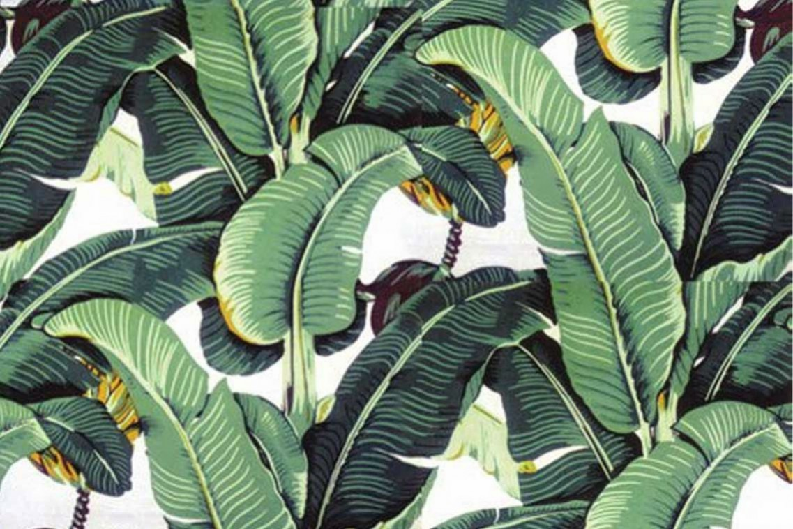 your interior Martiniques iconic banana leaf patterned wallpaper 1137x758