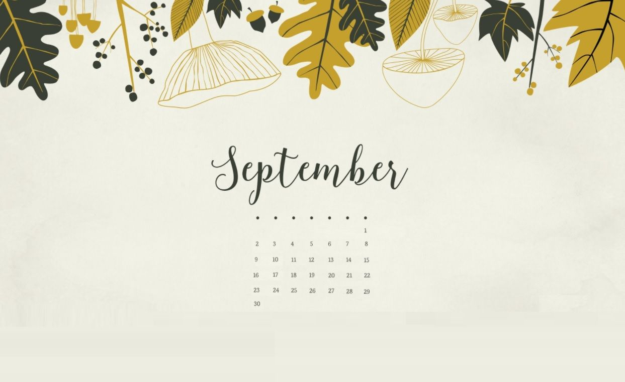 September 2018 Calendar Wallpapers Calendar 2018 in 2019 1243x761