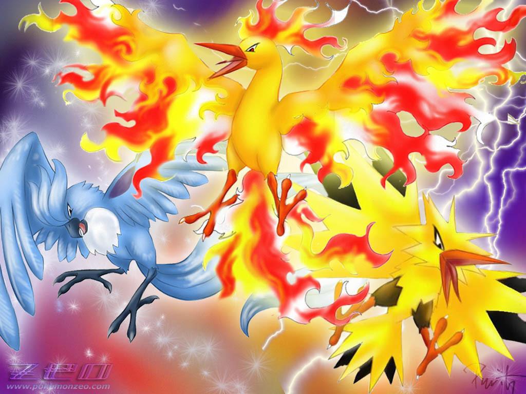 Legendary birds   Legendary Pokemon Wallpaper 6924218 [main 1024x768