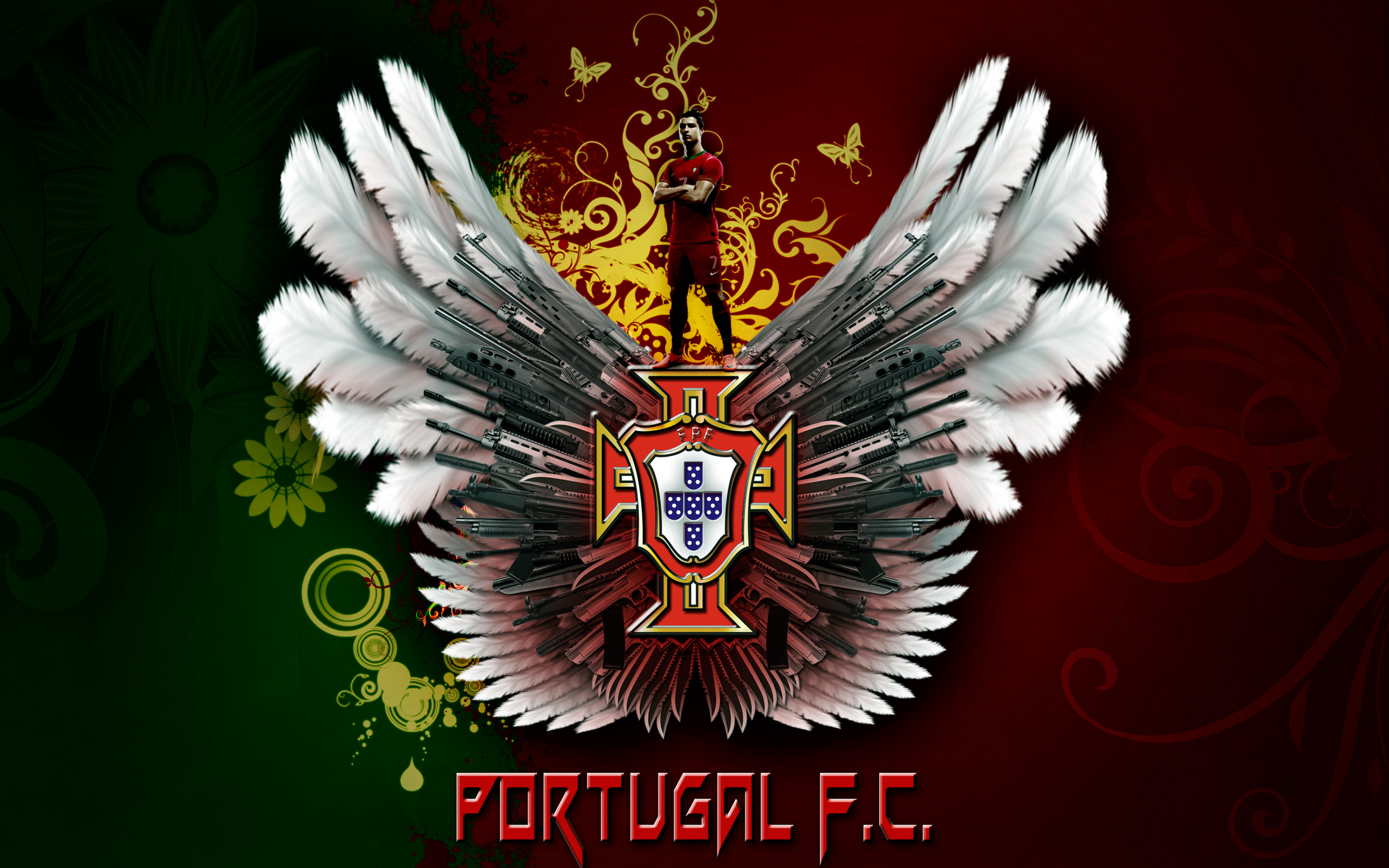 Portugal national football team logo wallpaper Chainimage 2560x1600