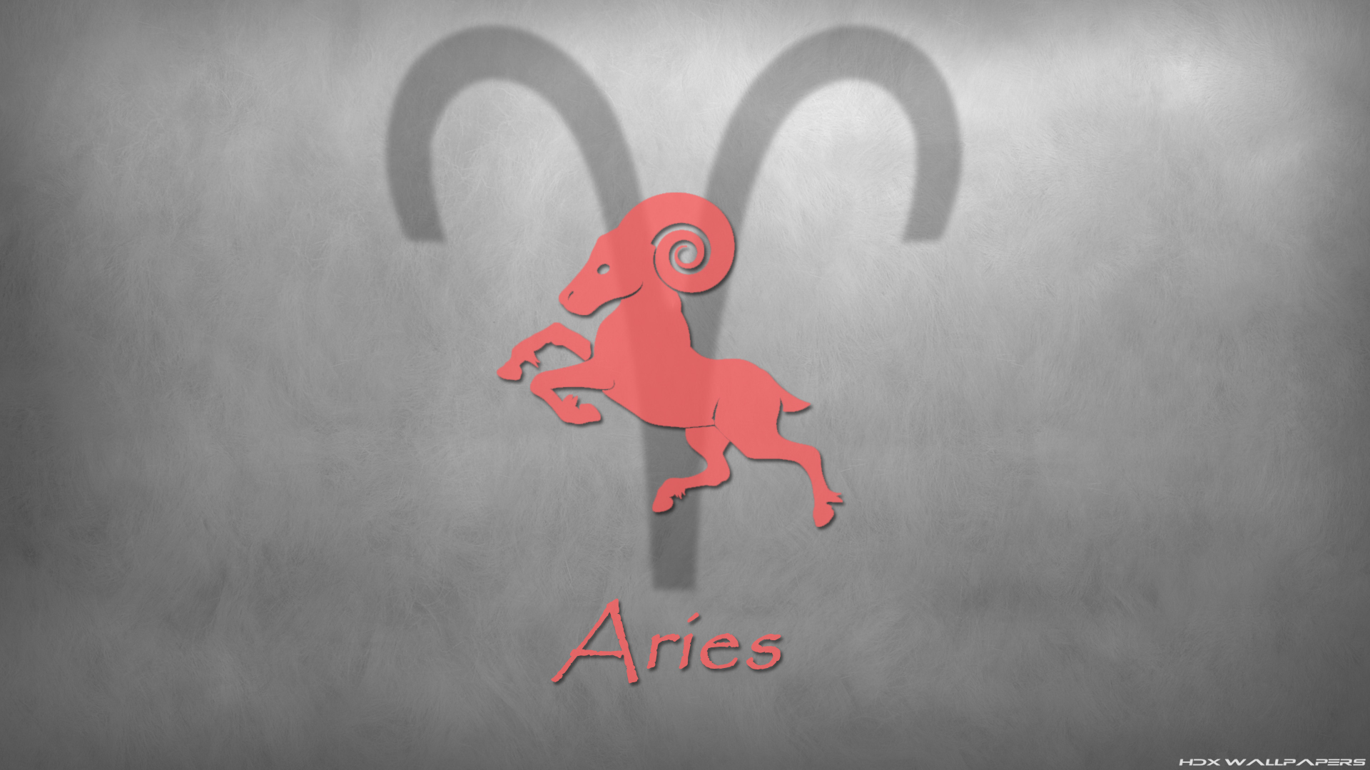 Aries sign on a gray background wallpapers and images   wallpapers 1920x1080