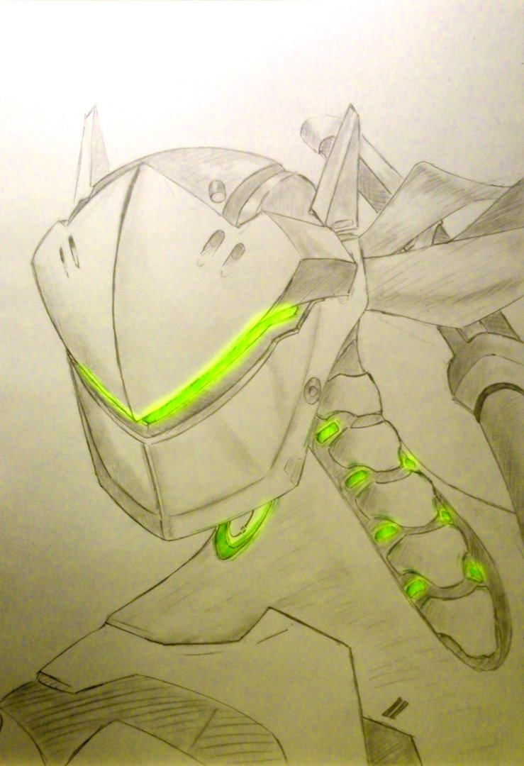 GreeNinja   Genji from Overwatch by WingedWilly 739x1080