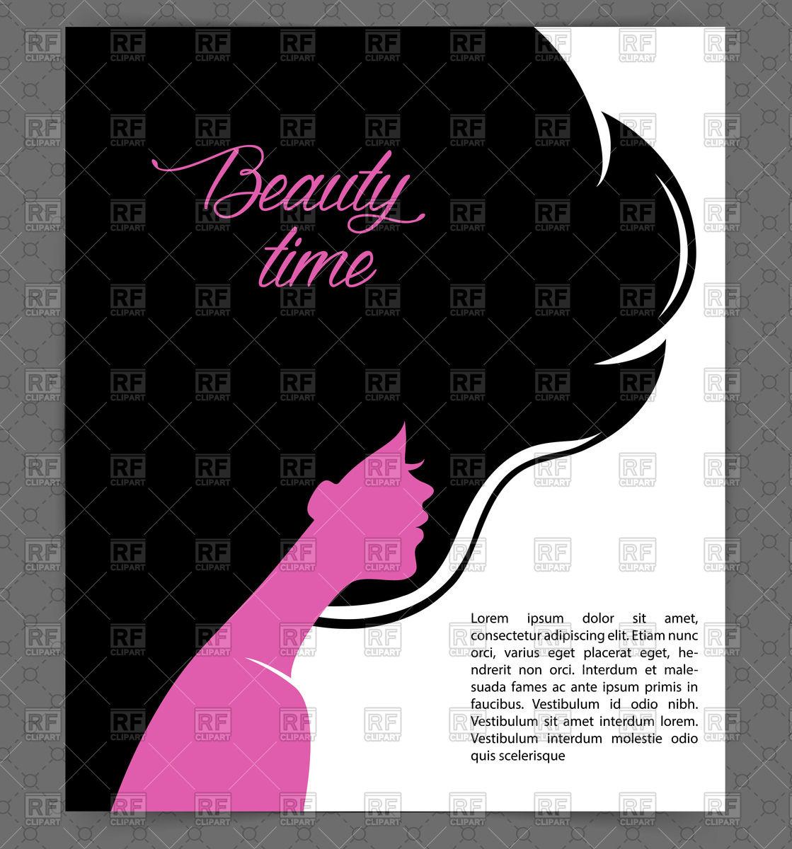 Hair Beauty Salon Border Clip Art 1119x1200