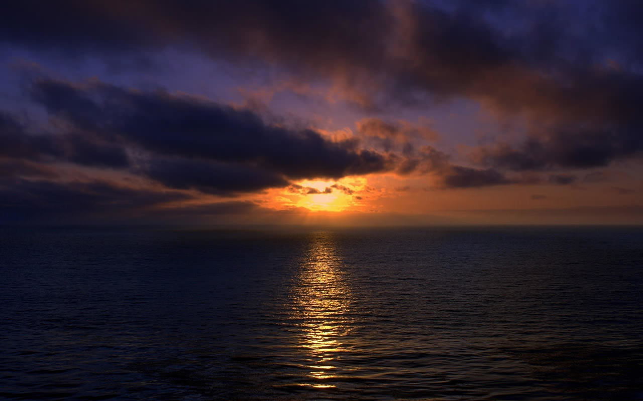 Sunset Over Ocean Wallpaper 1280x800 1280x800