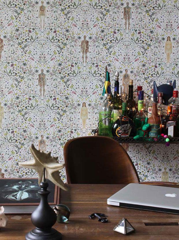 small home bar cool wallpaper decor Print and Pattern Pinterest 620x830