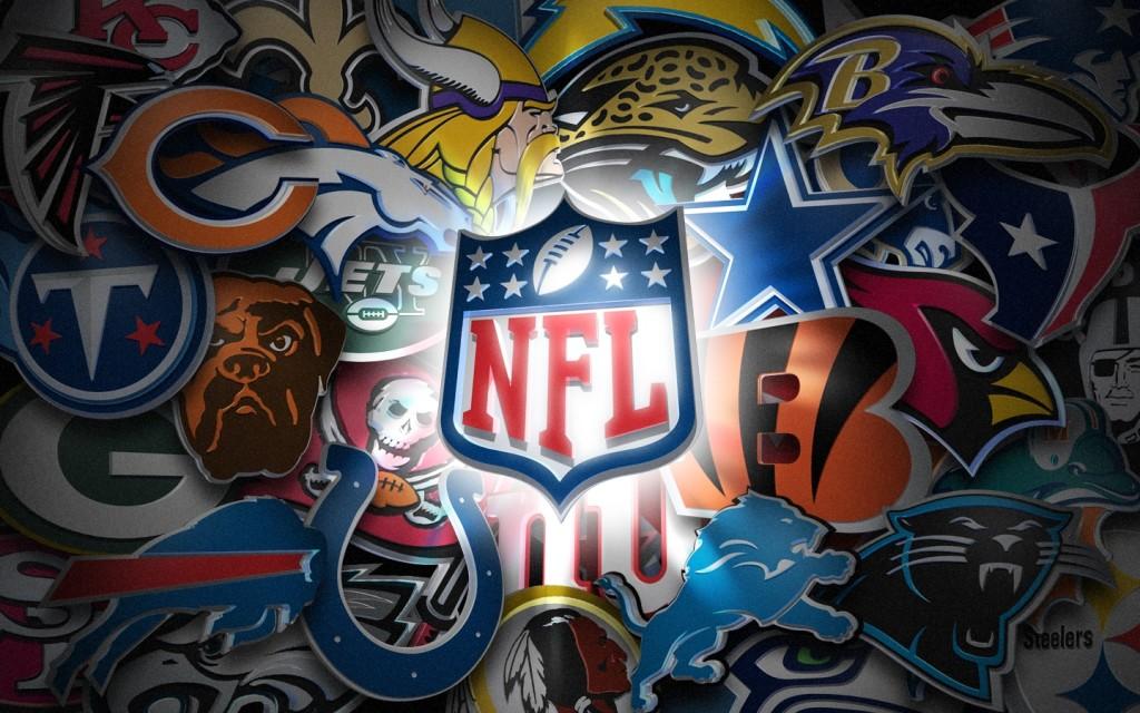 NFL team logos 2014 background hd wallpaper background desktop 1024x640