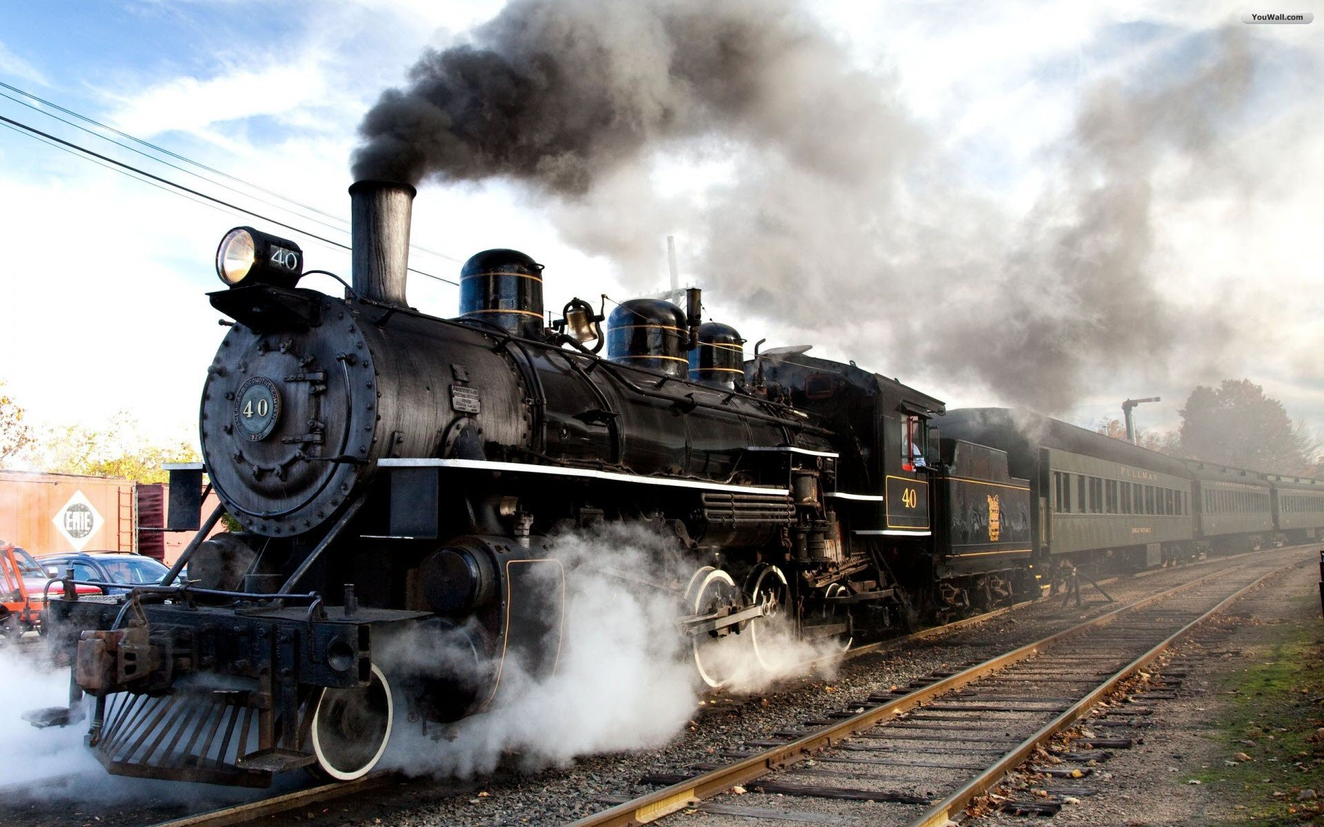 YouWall   Steam Train Wallpaper   wallpaperwallpapersfree wallpaper 1920x1200