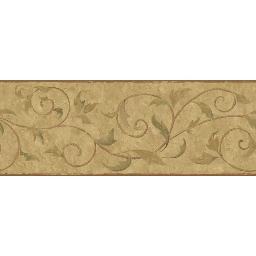Wallcoverings 9 Vine Scroll Prepasted Wallpaper Border at Lowescom 900x900