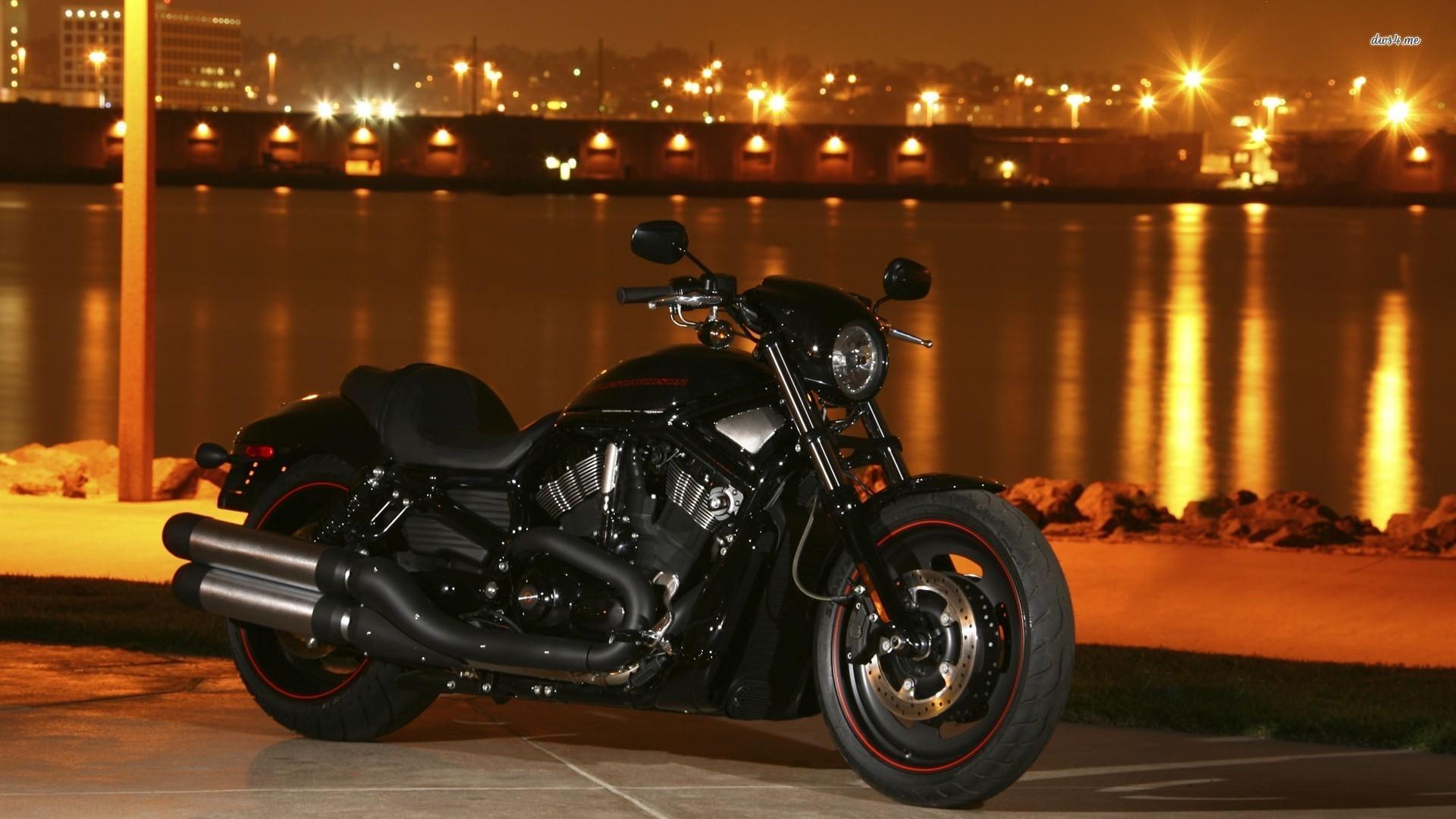 Amazing Black Motorcycle Harley Davidson Wallp 10704 1920x1080