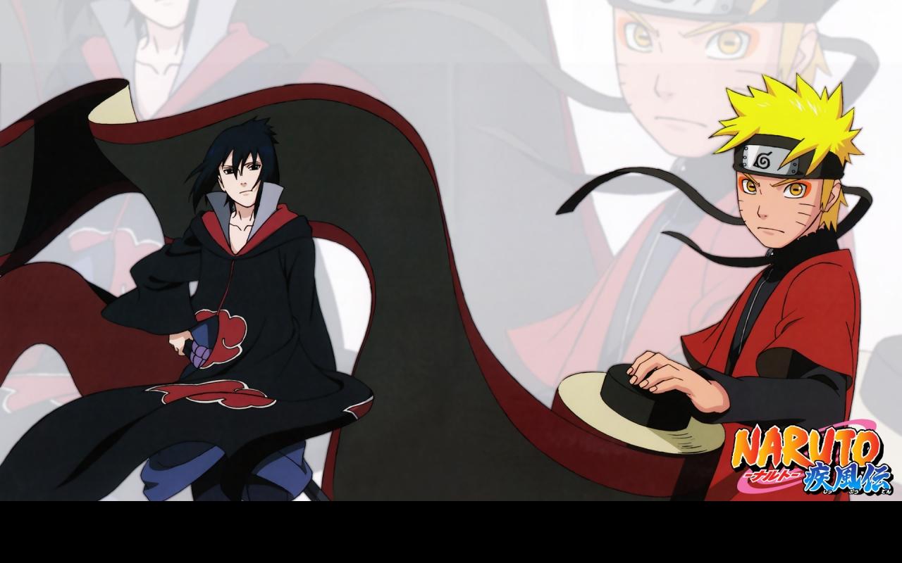 Sasuke and Naruto   Naruto Shippuuden Wallpaper 23372652 1280x800