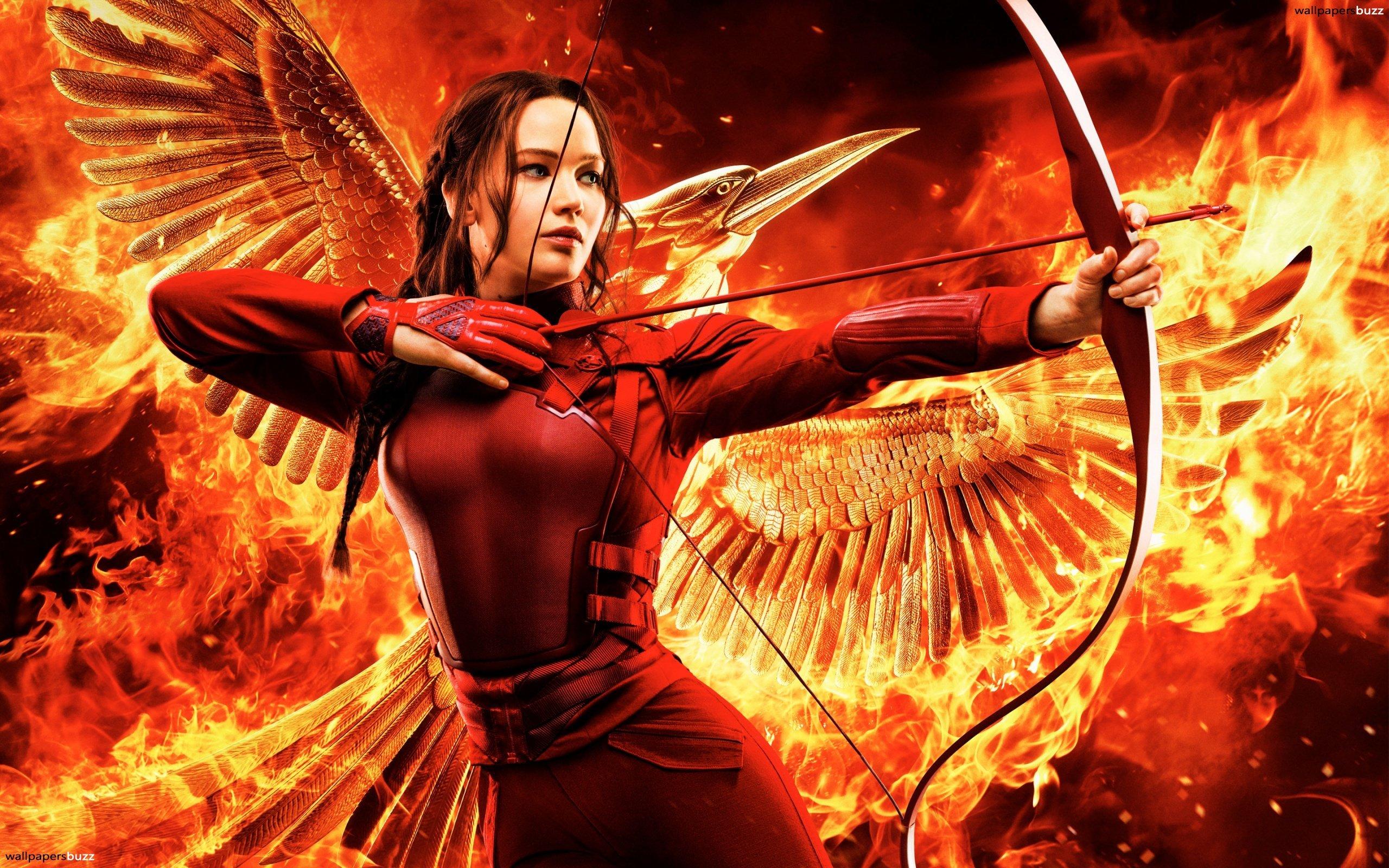 Katniss shoots a bow HD Wallpaper 2560x1600