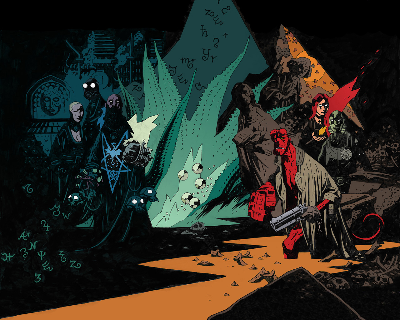 Wallpaper Abyss Explore the Collection Hellboy Comics Hellboy 409276 1280x1024