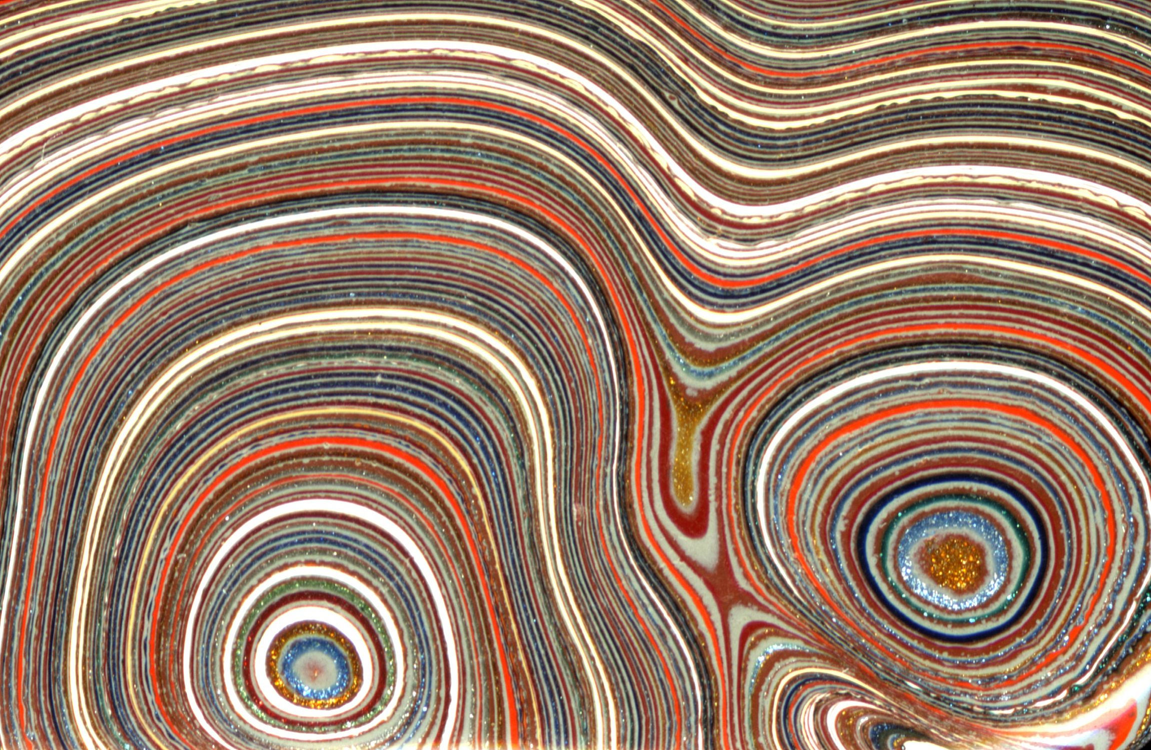 This is Fordite or Detroit agate thousands of layers of 2303x1501