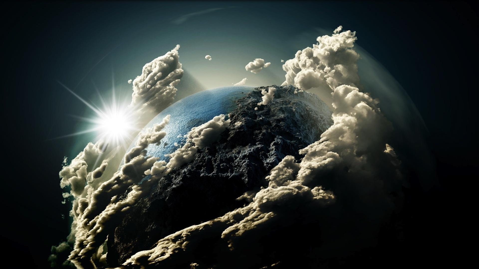 Fantasy Earth Clouds Wallpapers HD Desktop and Mobile Backgrounds 1920x1080