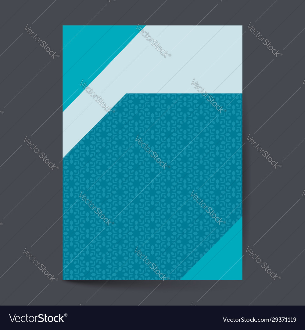 Elegant cover page with pattern background Vector Image 1000x1080