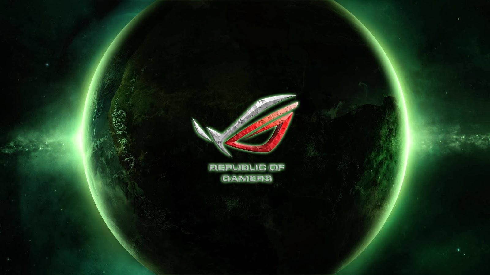 Asu Republic of Gamers Logo Brand Space Planet Widescreen HD Wallpaper 1600x900