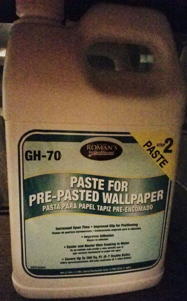 GH 70 Paste for Pre pasted Wallpaper Romans Golden Harvest 1Gallon 600x963