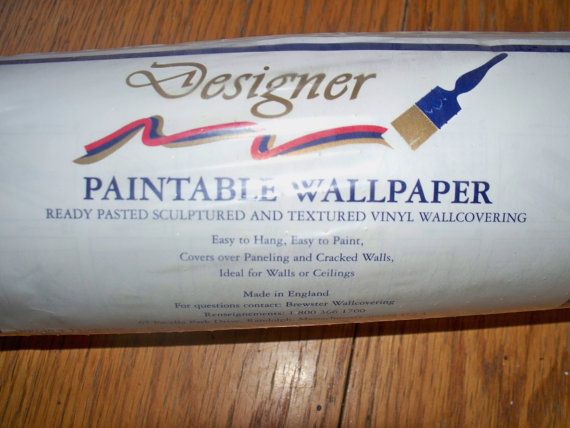 PaintableWallpaper Wall PaperNOSNew Old StockDiscontinued 570x428