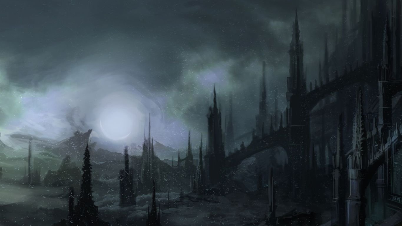 Gothic castle wallpaper 17209 1365x768