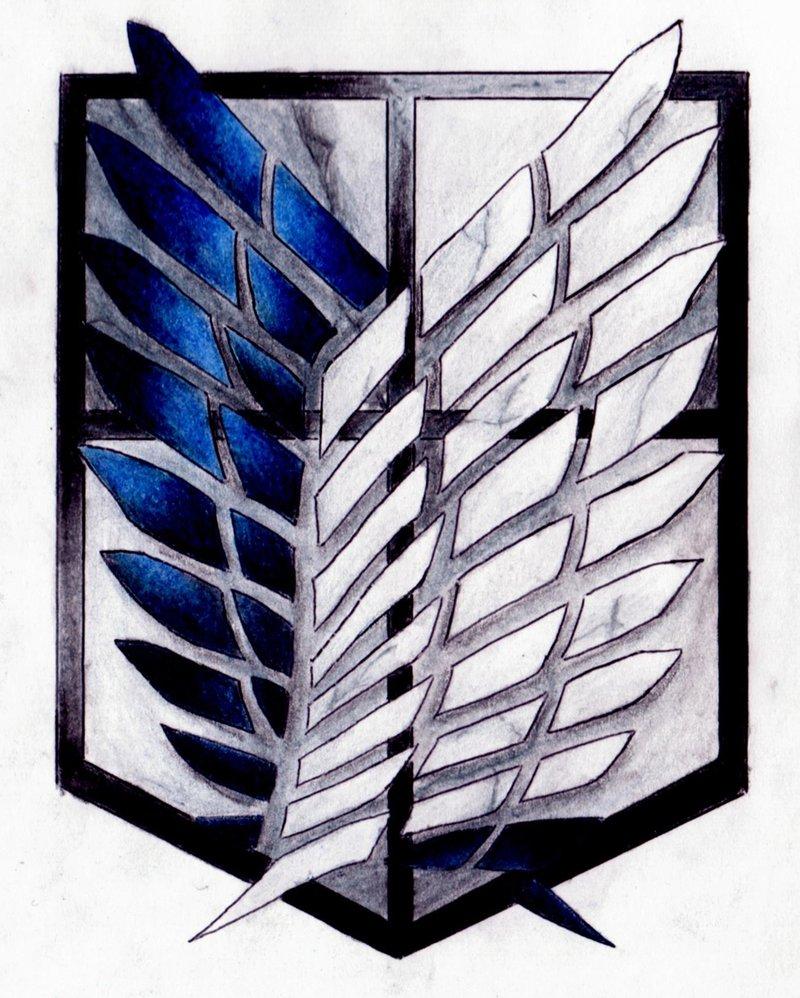 Attack on Titan  Scouting Legion Emblem by lynda2384 800x998