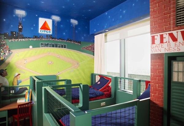 Download Baseball Themed Bedroom Wallpaper 600x411