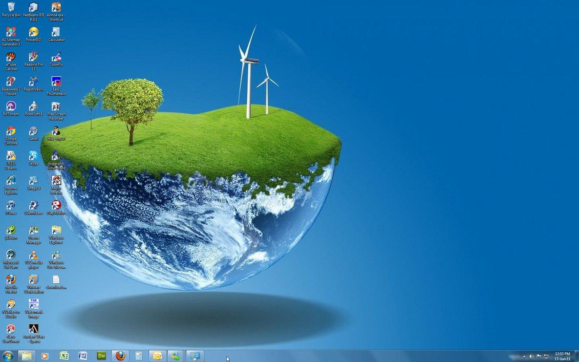 Windows 7 Theme   3D World Windows 7 Gallery Themes Gadgets 1131x707