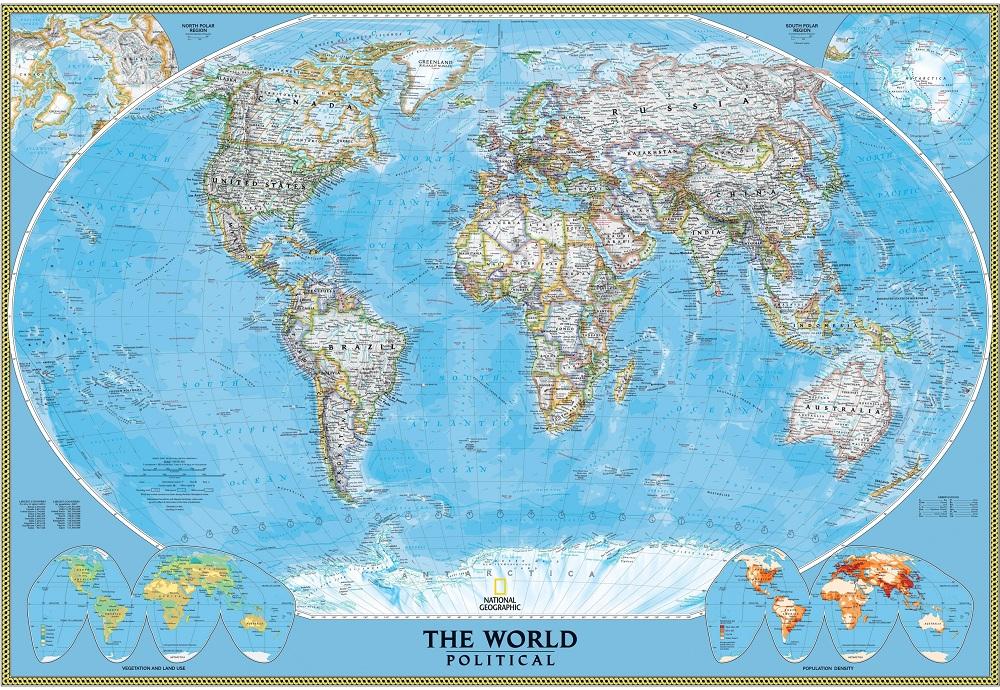 beberapa Wall Sticker Gambar Peta Dunia sebagai dekorasi ruangan 1000x690