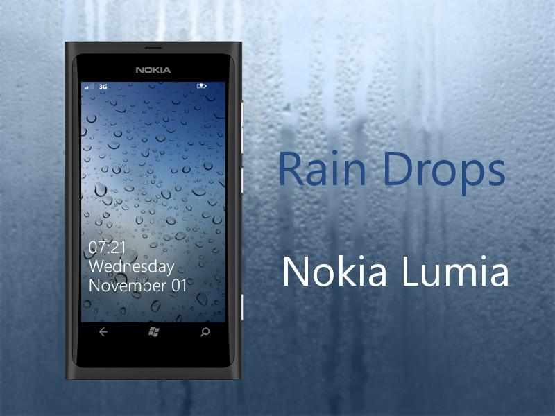 Rain Drops WP7 Nokia Lumia Wallpaper by biggzyn80 800x600