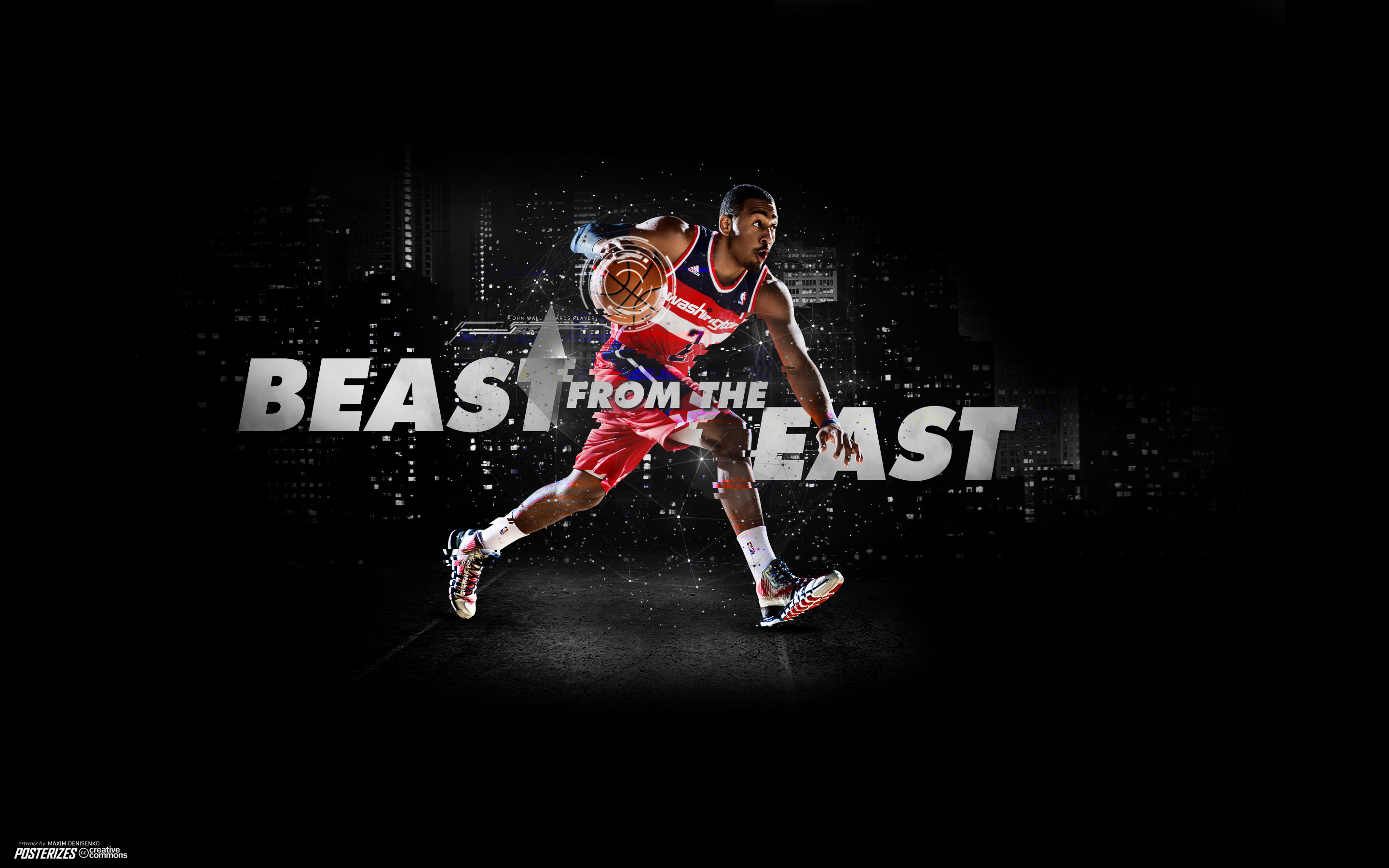 John Wall Dunking Wallpaper Wizards